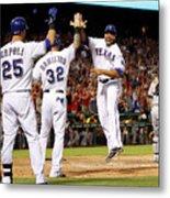 Oakland Athletics V Texas Rangers Metal Print