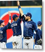 Tampa Bay Rays V Cleveland Indians Metal Print
