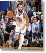 Utah Jazz V Golden State Warriors Metal Print