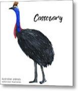 Australian Animals Watercolor Metal Print