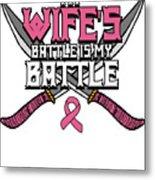 Breast Cancer Awareness Art For Warrior Women Light Dark Metal Print