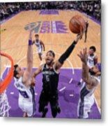 Detroit Pistons V Sacramento Kings Metal Print