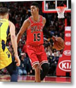 Indiana Pacers V Chicago Bulls Metal Print