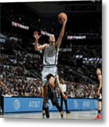 La Clippers V San Antonio Spurs Metal Print