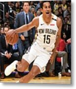 New Orleans Pelicans V Los Angeles Metal Print