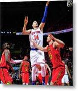 New York Knicks V Atlanta Hawks Metal Print