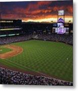 Atlanta Braves V Colorado Rockies Metal Print