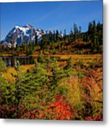 Autumn Colors With Mount Shuksan Metal Print