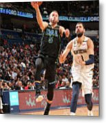 Dallas Mavericks V New Orleans Pelicans Metal Print