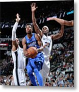 Dallas Mavericks V San Antonio Spurs Metal Print