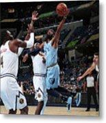 Denver Nuggets V Memphis Grizzlies Metal Print