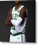 Kyrie Irving Boston Celtics Portraits Metal Print