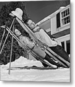 New England Skiing Metal Print