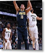 New Orleans Pelicans V Denver Nuggets Metal Print