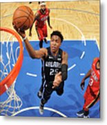 New Orleans Pelicans V Orlando Magic Metal Print
