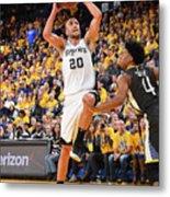 San Antonio Spurs V Golden State Metal Print