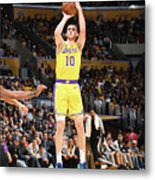 San Antonio Spurs V Los Angeles Lakers Metal Print