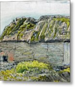 A Barn With A Mossy Roof, Shoreham - Digital Remastered Edition Metal Print