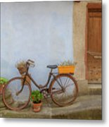 A Bicycle At Number 10 Metal Print