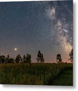 A Bright Mars Rising To The East Metal Print