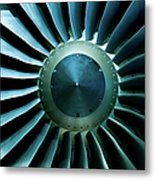 A Close Of Up A Turbine Showing The Metal Print