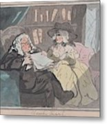 A Counselor's Opinion After He Had Retired From Practice After Thomas Rowlandson British, London 17 Metal Print