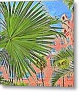A Don Cesar Palm Frond Metal Print