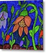 A Flower Garden Metal Print