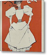 A Gaiety Girl, 1894 French Vintage Poster Metal Print