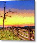 A Gorgeous Blue Ridge Sunrise Ap Metal Print