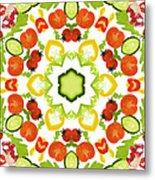 A Kaleidoscope Image Of Salad Vegetables Metal Print