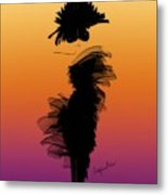 A Little Black Dress In The Sunset Metal Print