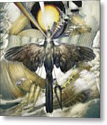 A Painting Alludes To Powers That Might Enable Birds To Migrate. Metal Print