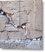 A Piece Of The Wailing Wall Metal Print