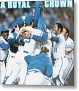 A Royal Crown 1985 World Series Sports Illustrated Cover Metal Print