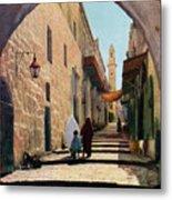 A Street In Jerusalem, Israel, 1926 Metal Print