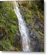 A Touch Of Light On Bridal Veil Falls Metal Print