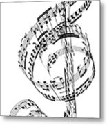 A Treble Clef Made From Beethovens Metal Print