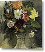 A Vase Of Flowers, 1833 Metal Print
