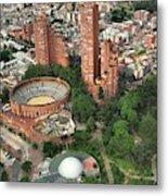 A View Of Downtown Bogota Metal Print