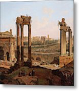 A View Of The Forum Romanum Metal Print