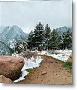 A Winter's Day In The Flatirons Metal Print