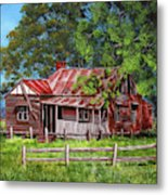 Abandoned Old Farm House Metal Print
