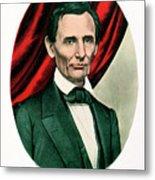 Abraham Lincoln 1809-65, C1865. Artist Metal Print