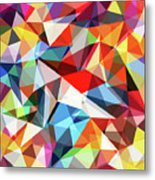 Abstract Colorful Geometrical Background Metal Print