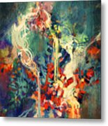 Abstract Colorful Painting,melted Metal Print
