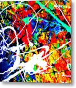 abstract composition K12 Metal Print