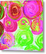 Abstract Flower Crowd Metal Print