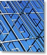Abstract Geometric Reflection Metal Print