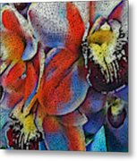 Abstract Orchids.  Metal Print